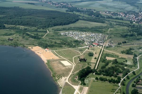 Luftbild O-See Camping Zittauer Gebirge (Foto: Steffen Roy)