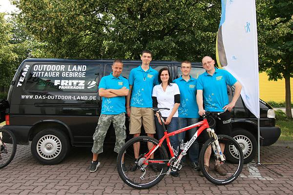 Team Outdoor Land - Zittauer Gebirge: Heiko, Thomas, Ina, Rico und Steffen