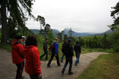 Wanderung zum Ortskern von Garmisch Partenkirchen