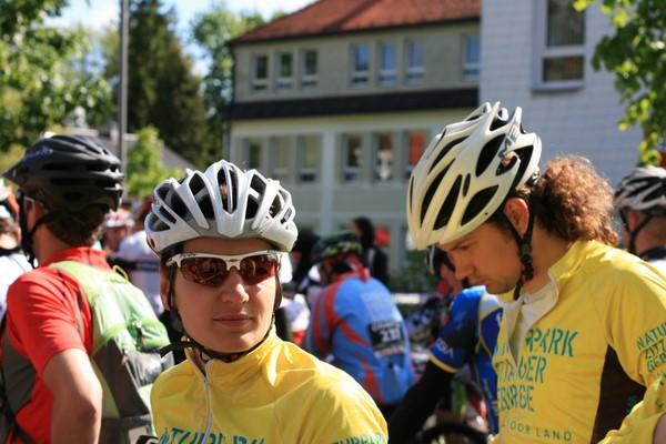 Katja und Manuel vor dem Start