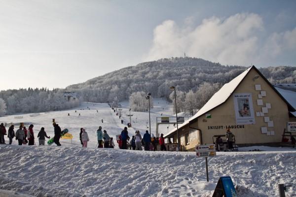 Lauscheareal im Naturpark Zittauer Gebirge